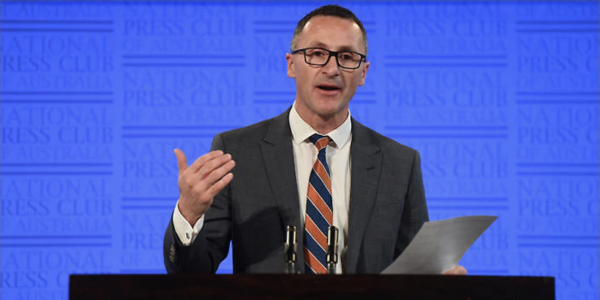 Richard Di Natale at the National Press Club